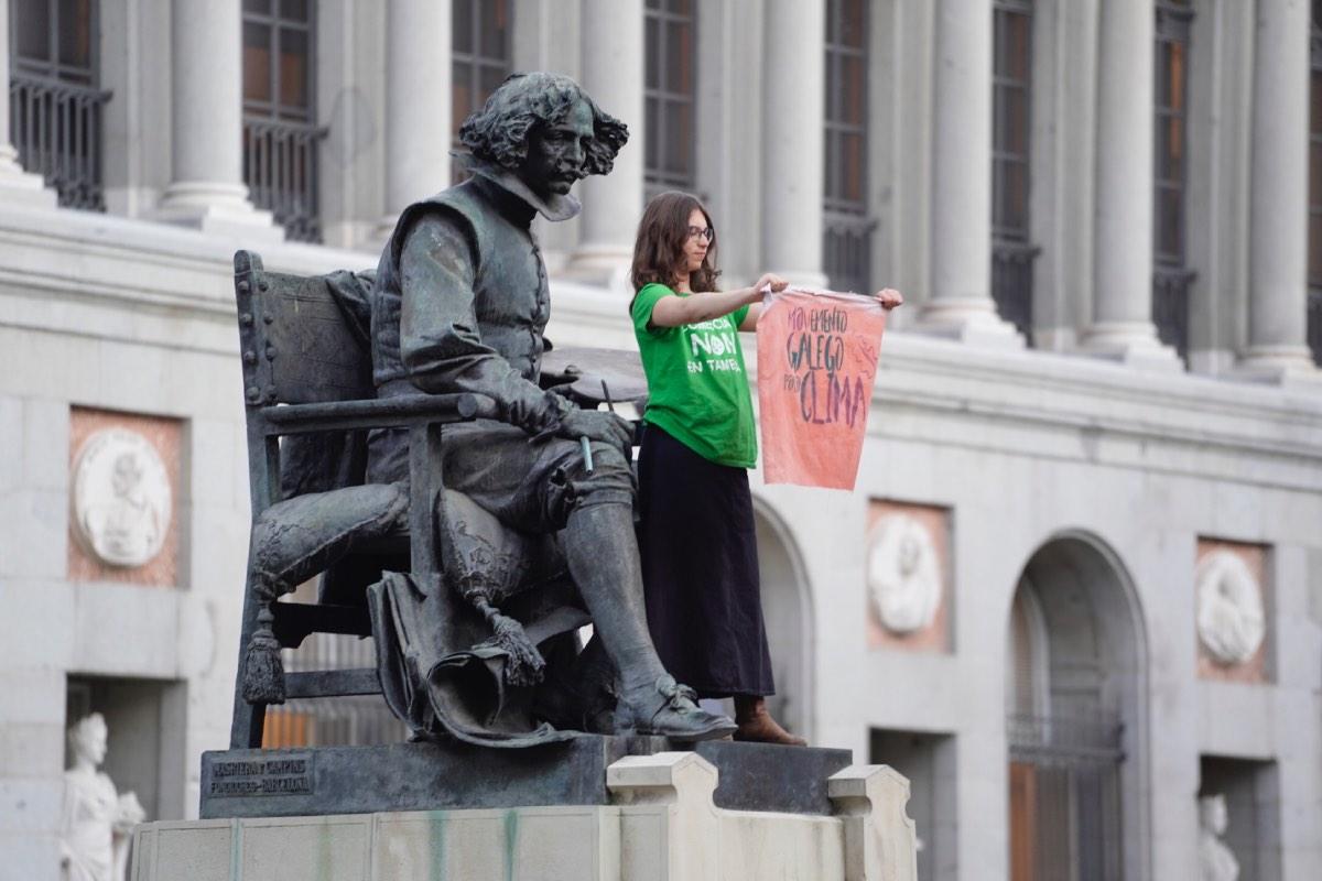 Acto de protesta en Madrid para alertar de las consecuencias del cambio climático. Fotografía: Ángel Navarrete.