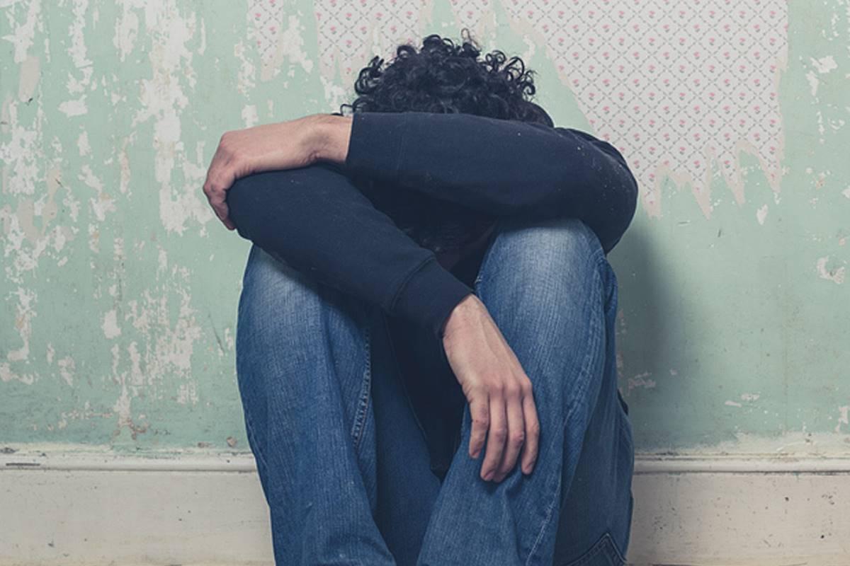 Adolescente con depresión.