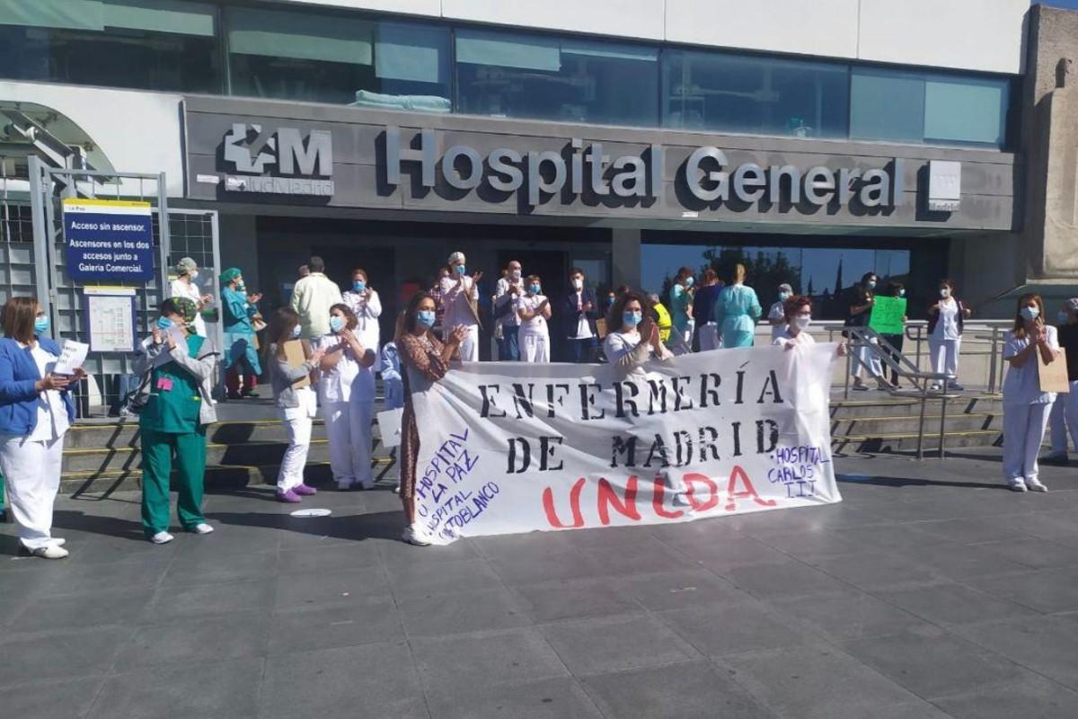 """El movimiento """"Enfermer�a de Madrid Unida"""" convoca concentraciones todos los lunes (Enfermer�a Unida Madrid)"""