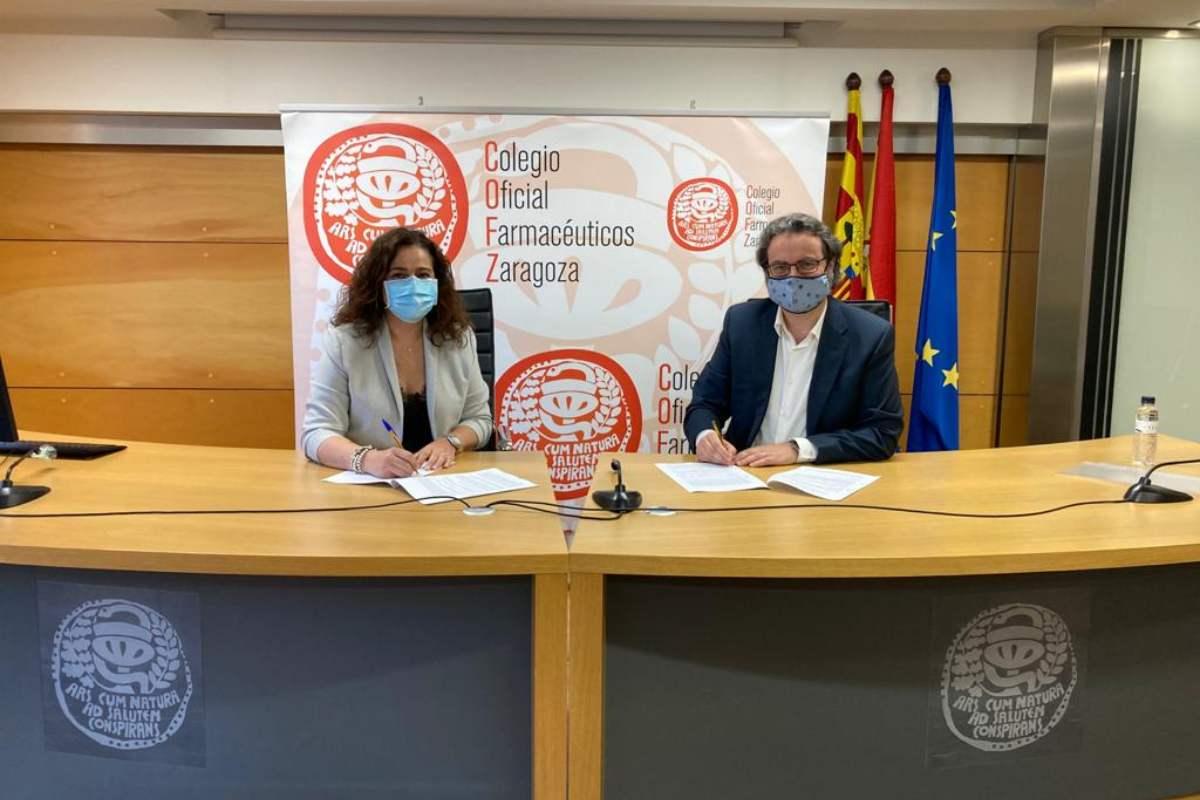 El convenio ha sido rubricado por Raquel García, presidenta del Consejo de COF de Aragón y del COF de Zaragoza, y Eduardo Satué, presidente deSefacARN.