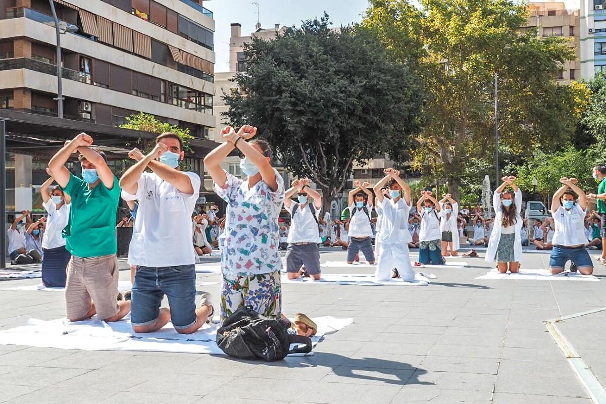 Manifestación de los MIR de la Comunidad Valenciana el pasado 31 de agosto (Huelga MIR CV)