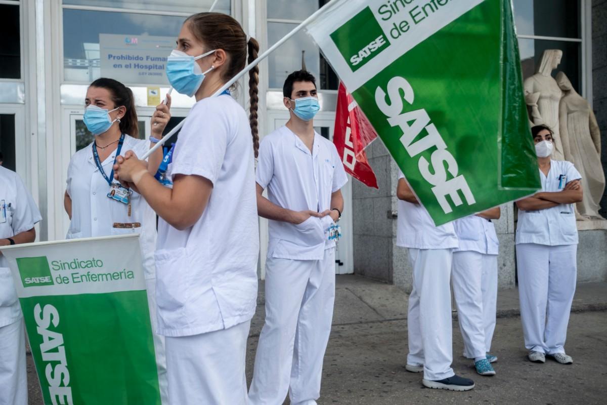 Los enfermeros de Madrid están convocados a la huelga a partir del 7 de octubre