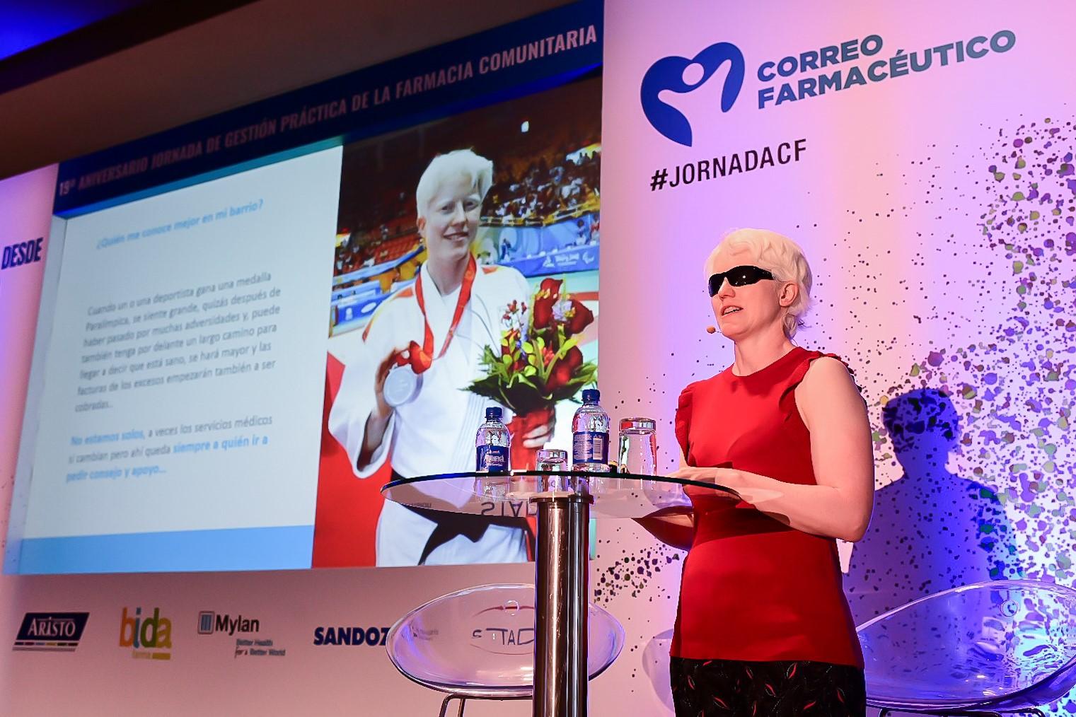 Marta Arce ha sido la encarga de abrir la jornada de gestión organizada por CF, con motivo de su XIX aniversario.
