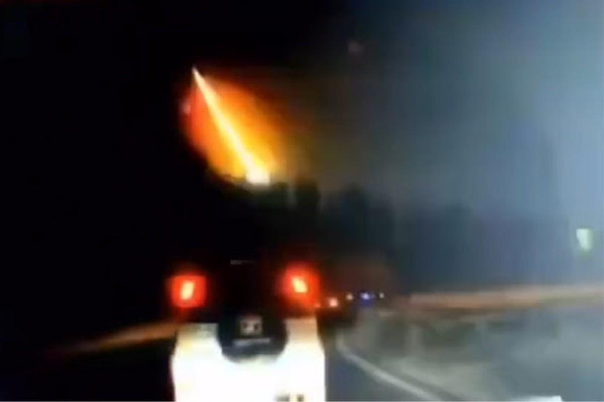 El meteorito que cayó en China en octubre de 2019.