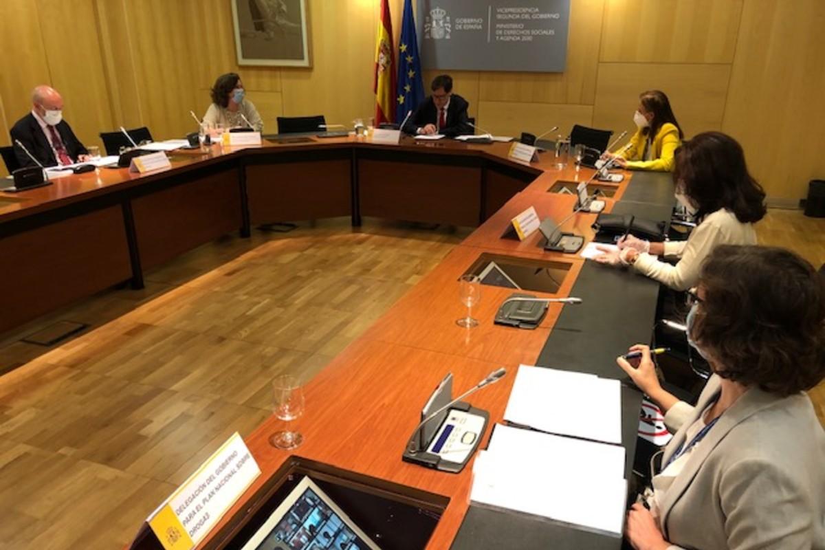Reunión de la Conferencia Sectorial del Plan Nacional Sobre Drogas con el ministro Salvador Illa