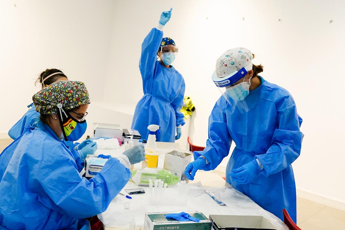 Pruebas de antígeno en Vallecas (Comunidad de Madrid)