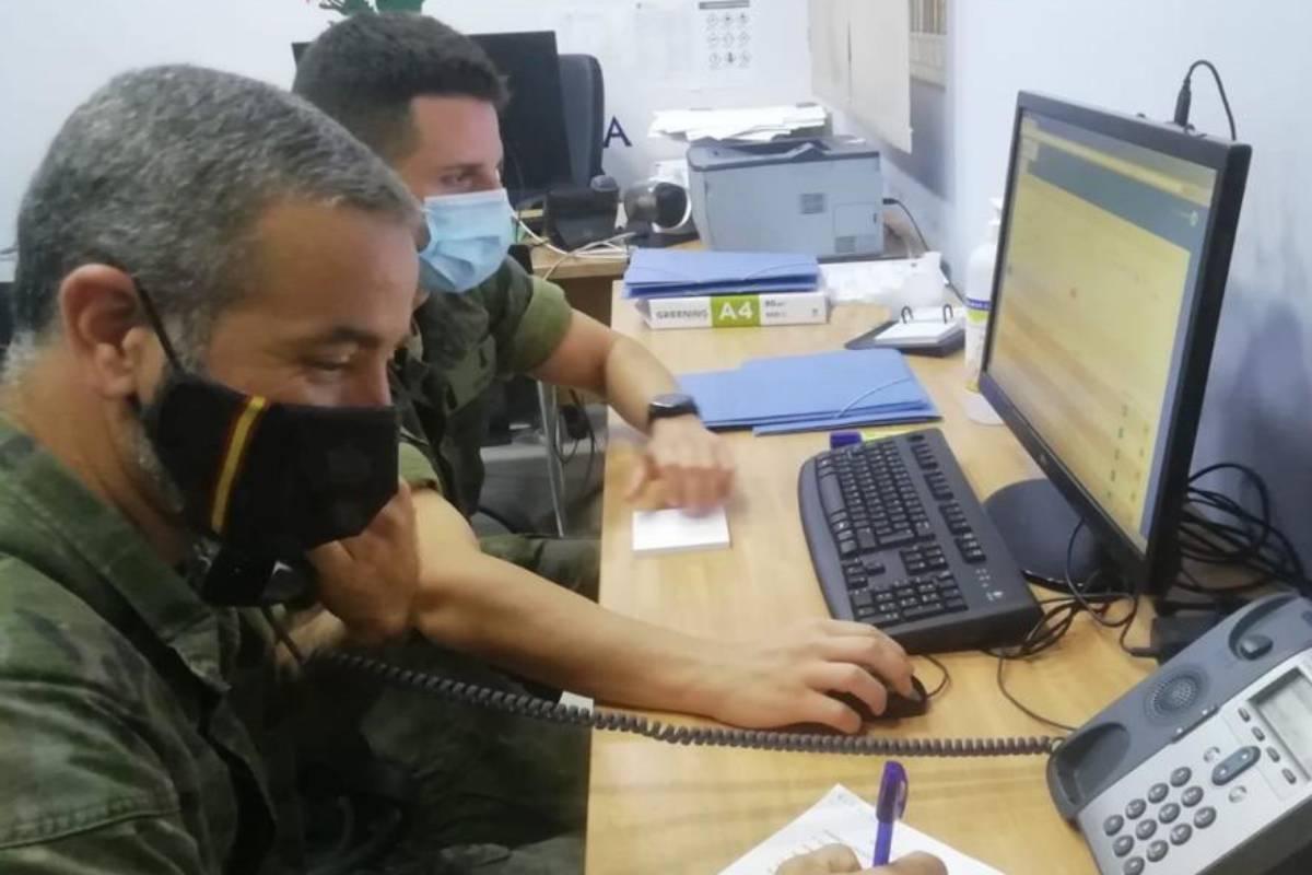 Rastreadores del Ejército de Tierra en Melilla. /Ministerio de Defensa.