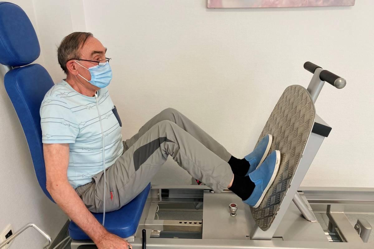 Paciente en un programa de rehabilitación. (Frédéric Hérengt/ERS) .