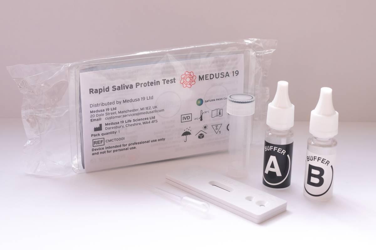 La compañía Medusa 19 aspira a que su test de saliva autopracticable se pueda vender en farmacias.