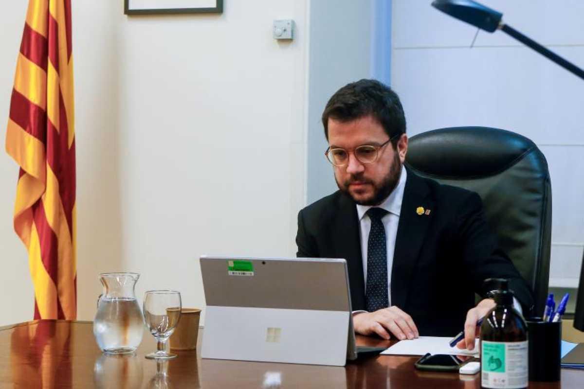 Pere Aragonés, vicepresidente de la Generalitat con funciones de presidente.