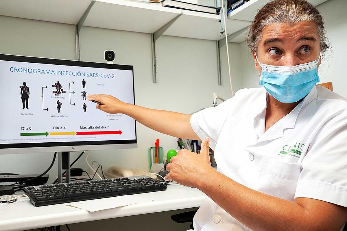 García-Vidal con su PC.
