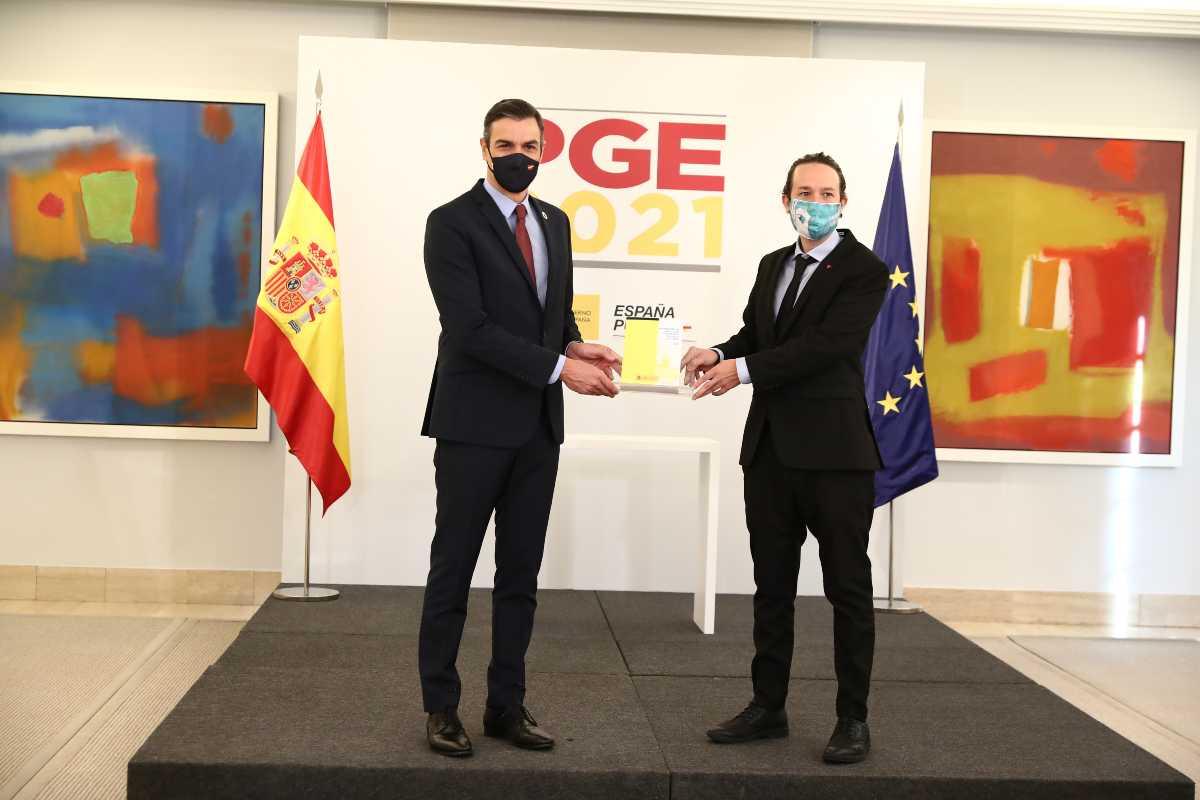 El presidente Pedro Sánchez y el vicepresidente Pablo Iglesias presentan el proyecto de Presupuestos Generales del Estado para 2021