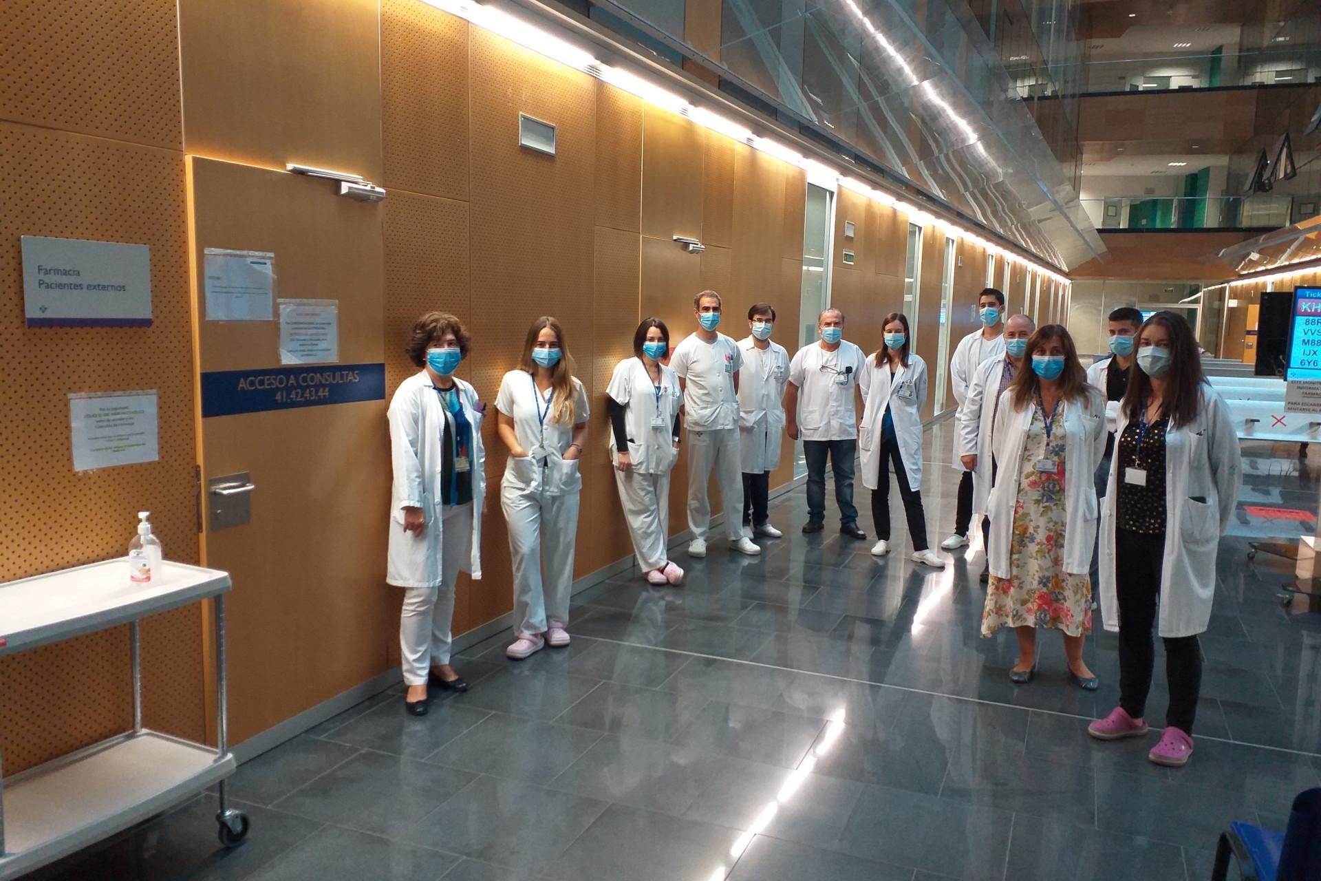 Parte de los integrantes del Servicio de Farmacia del Hospital Universitario Central de Asturias