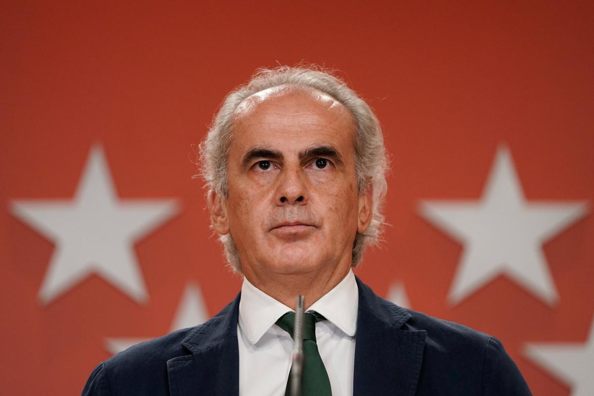 Ruiz Escudero en la rueda de prensa de 9 de octubre