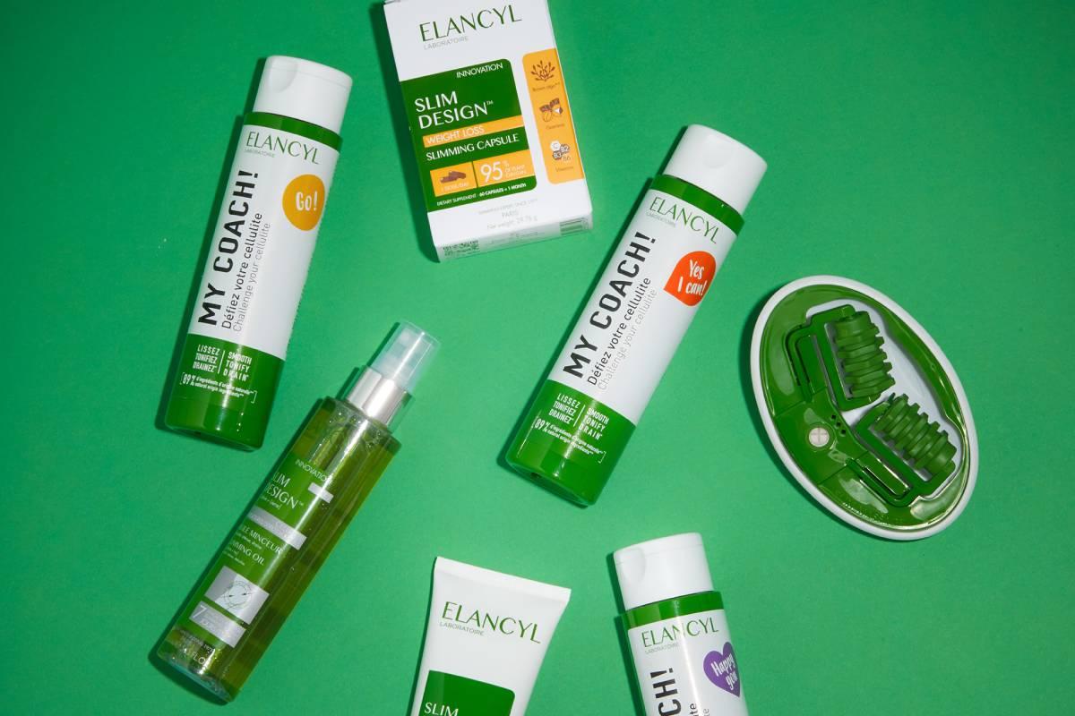 Productos que componen la gama Elancyl, ahora de Cantabria Labs.