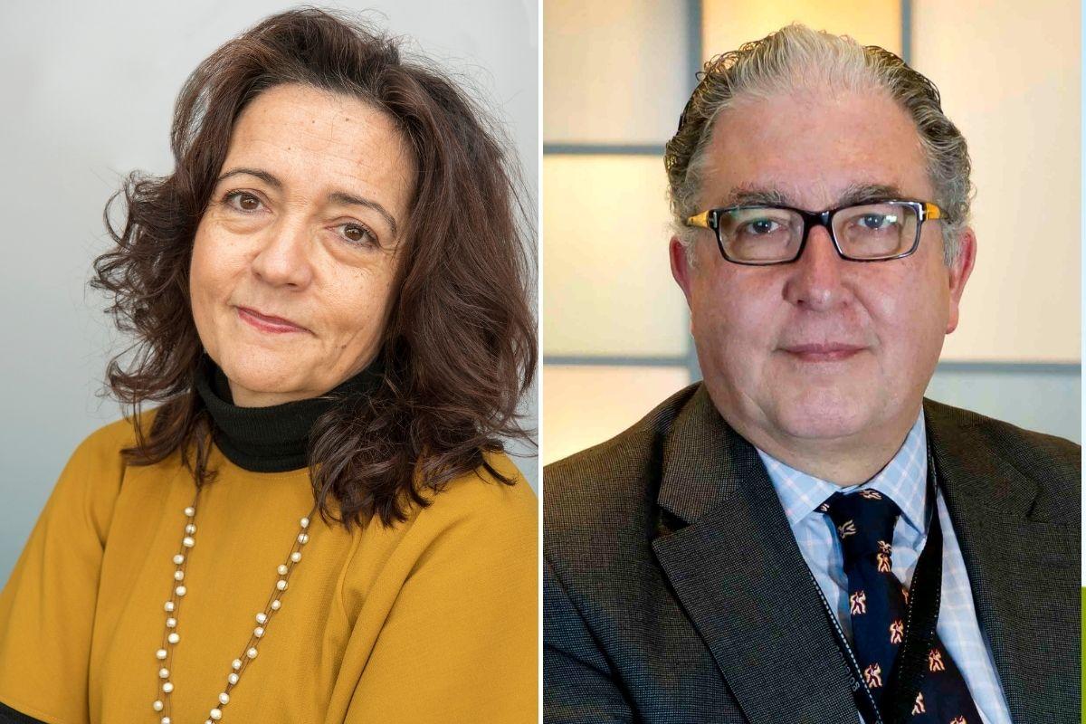 Elena Martín y Antonio Torres, los dos candidatos a presidir la Asociación Española de Cirujanos (AEC) a partir de 2022.