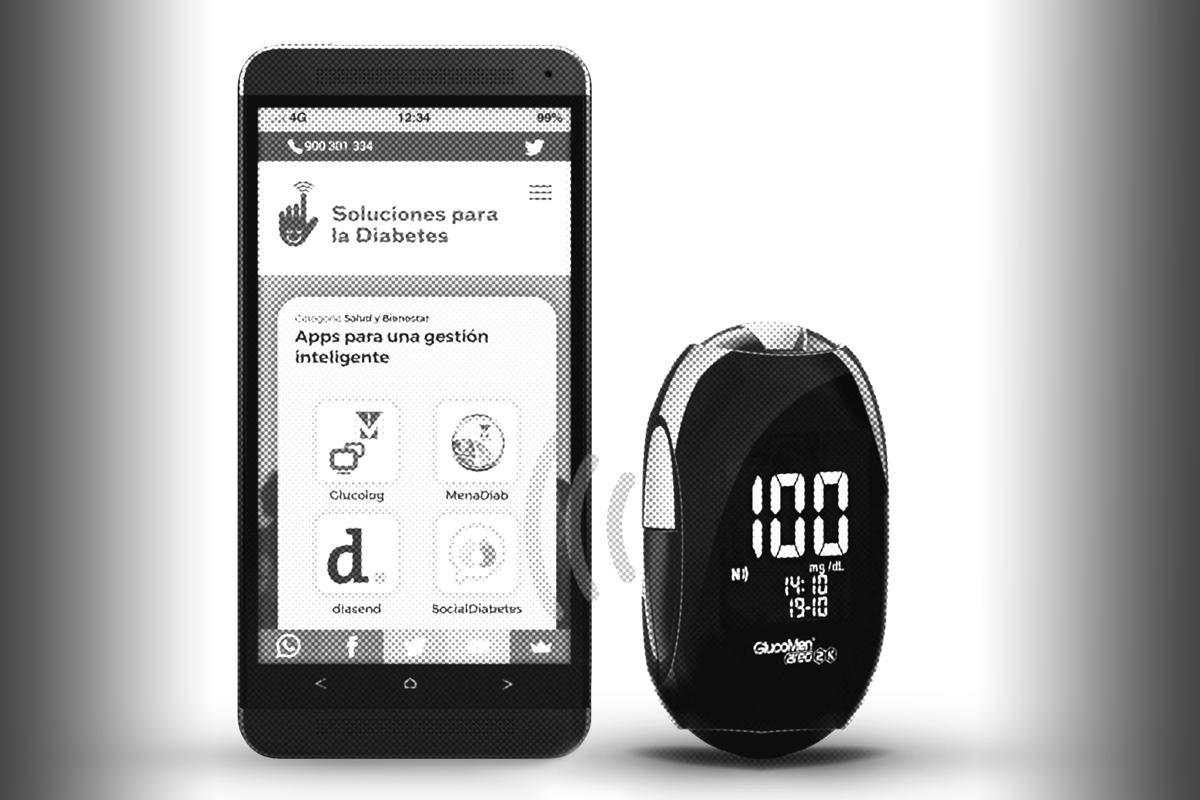 La conectividad con los 'smartphones' permite un registro de los datos de glucemia para su análisis y para emitir avisos al paciente.