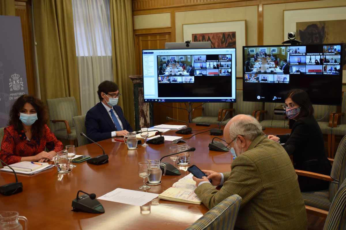 Reunión del Consejo Interterritorial del SNS que se ha celebrado este jueves.
