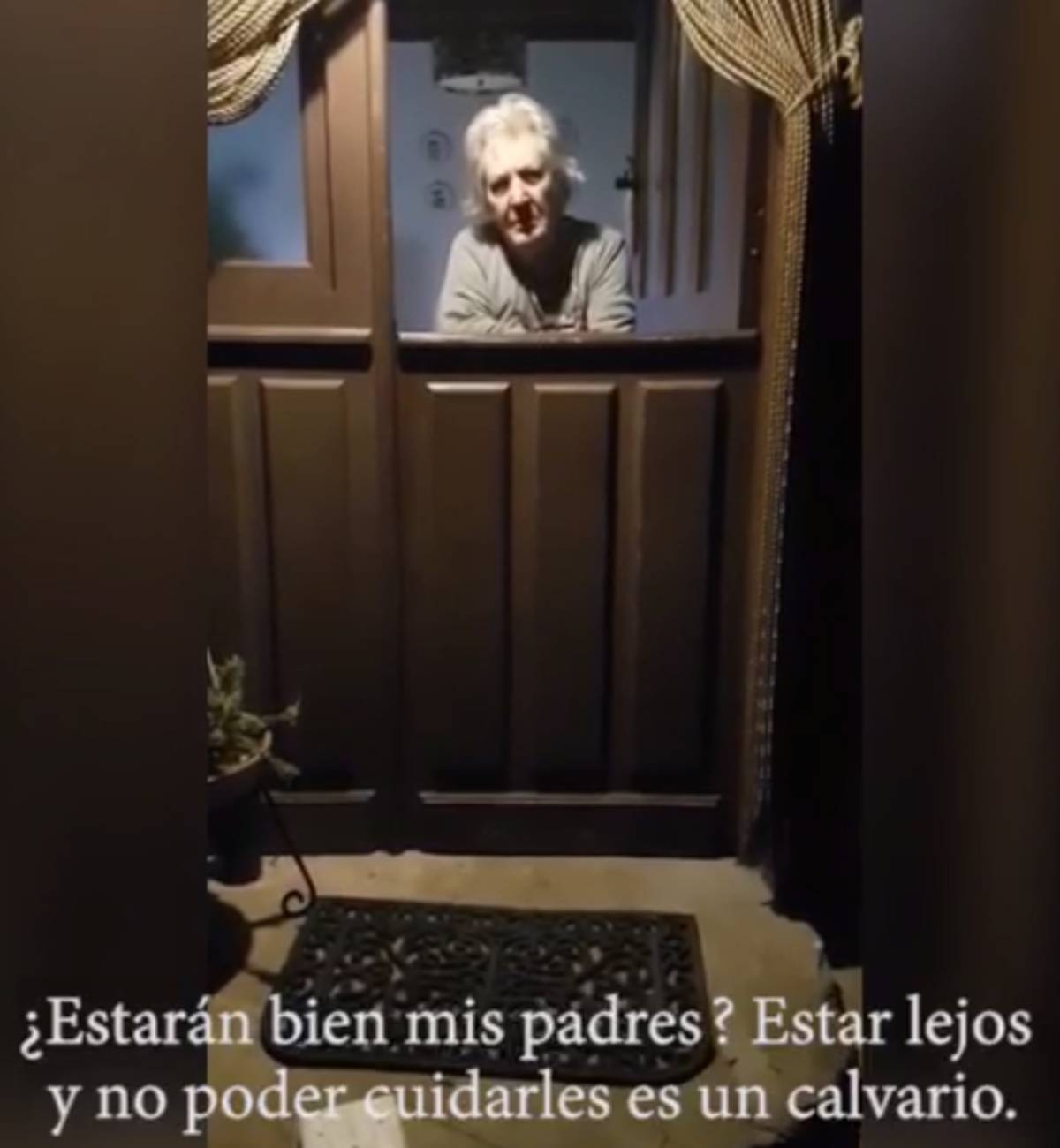 Una de las ancianas atendidas por Raquel Casado durante el anterior estado de alarma.