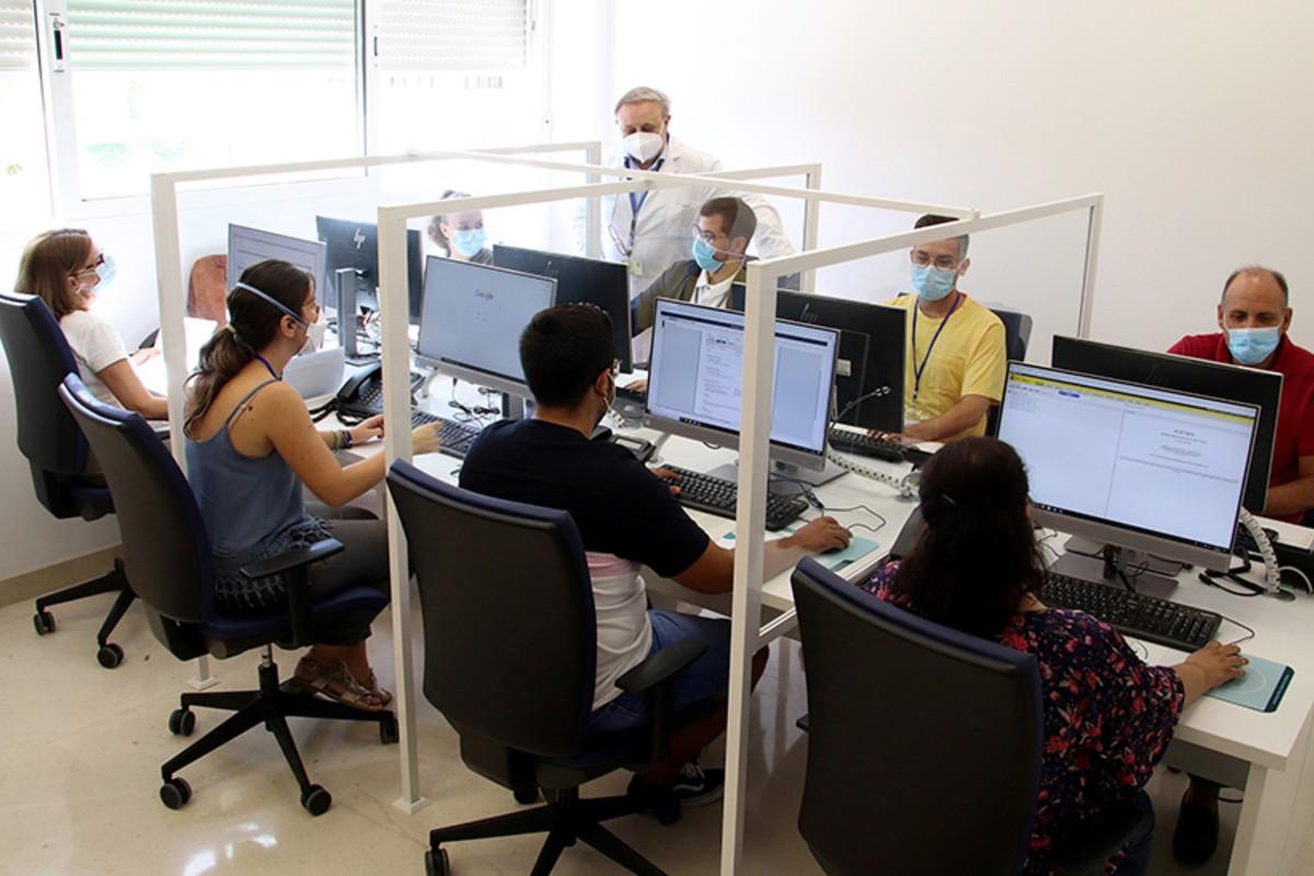 Call Center en el Hospital Macarena para el rastreo de los casos de Covid-19 en Andaluc�a (Junta de Andaluc�a)
