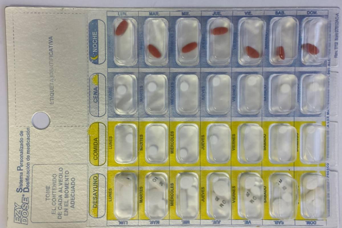 Sistema personalizado de dosificación (SPD).)
