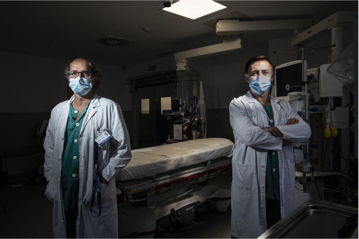 Mario Chico y Roberto Villar, del Hospital 12 de Octubre, de Madrid.