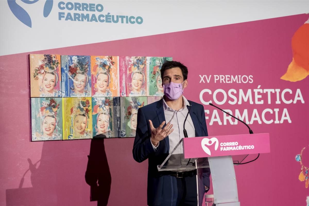 Miguel González Corral, director de CF, durante la entrega de los Premios Cosmética y Farmacia 2020.