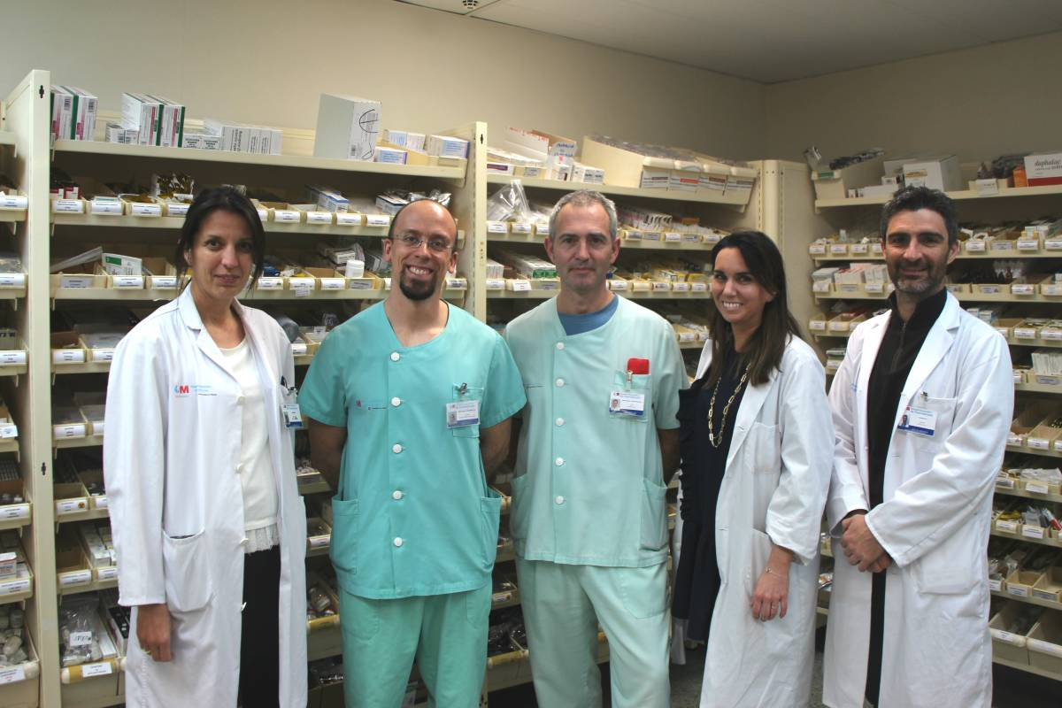 Equipo del Hospital de Fuenlabrada que ha desarrollado la aplicación 'Farma OPERA'.