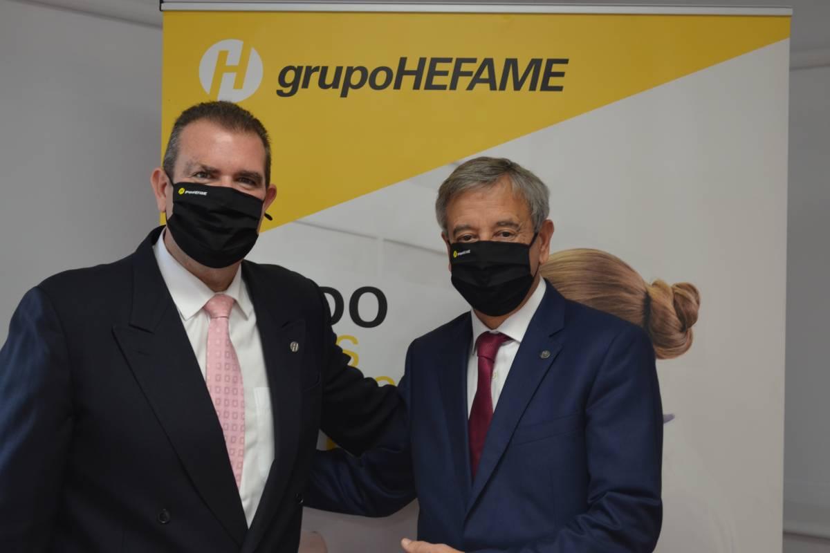 Enrique Ayuso y Carlos Coves, del Grupo Hefame.