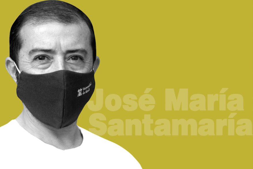 José María Santamaría es especialista en Enfermería Familiar y Comunitaria, profesor asociado en Enfermería en la Universidad de Alcalá, tutor de residentes y fue supervisor de Noches en el Hospital Covid-19 Ifema de Madrid. FOTO: Mauricio Skricky.