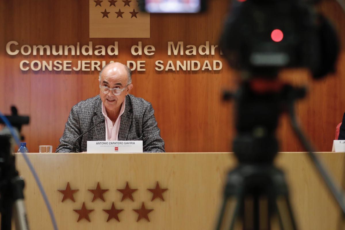 Antonio Zapatero, viceconsejero de Salud Pública y Plan Covid-19 de la Comunidad de Madrid.