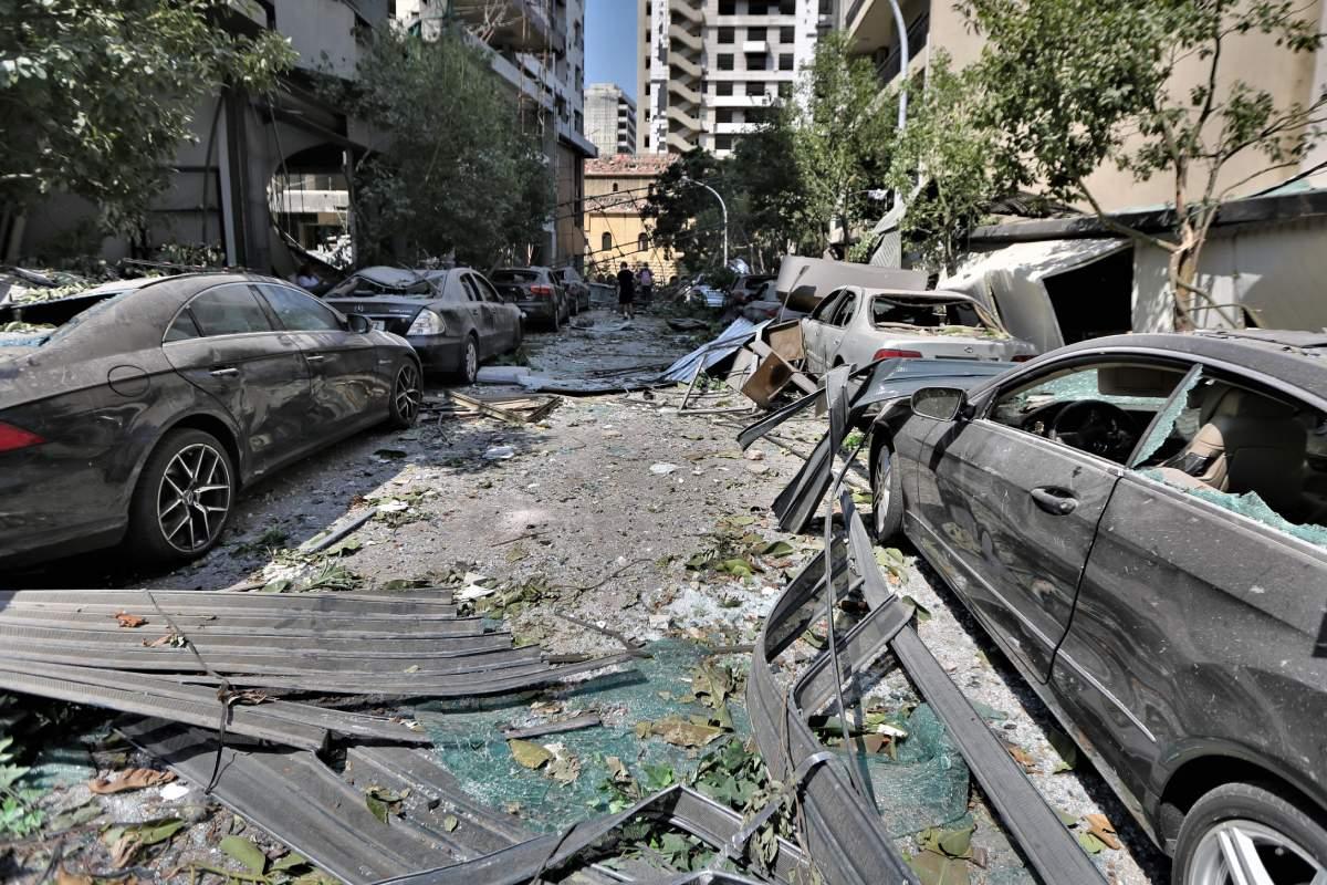 Daños causados por la explosión que tuvo lugar en Beirut el pasado mes de agosto. (EFE)