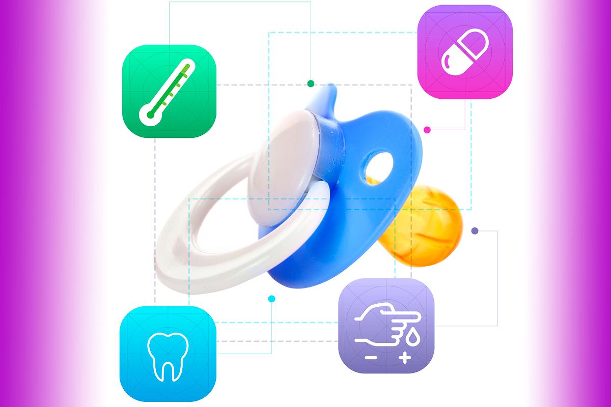 La introducción de sensores y su conexión a apps revolucionan los chupetes.