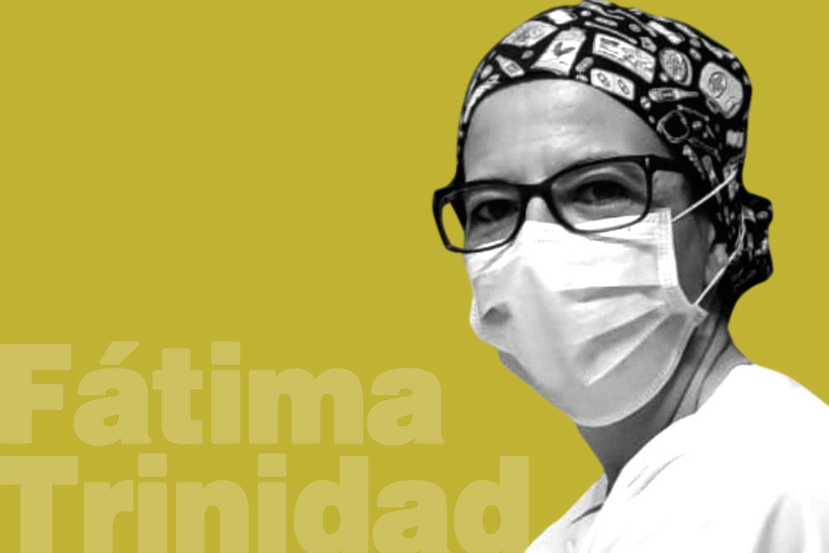 """Fátima Trinidad, enfermera intensivista en el Hospital Fundación Alcorcón y autora del libro """"La última mirada""""."""