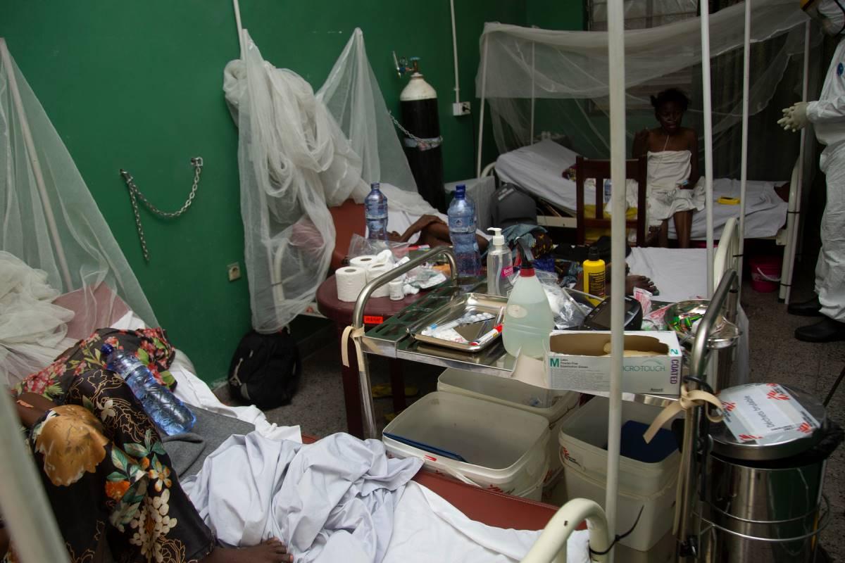 Hospital Saint Joseph en la República Democrática del Congo.