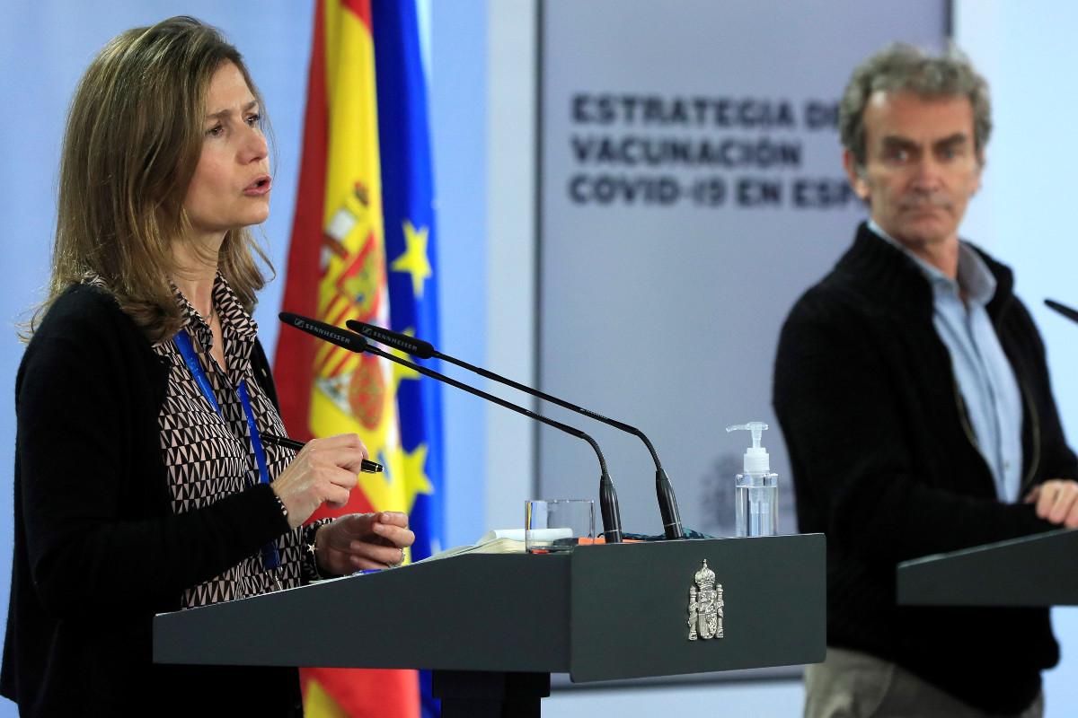 La directora de la Aemps, María Jesús Lamas, ha acompañado a Fernando Simón en su comparecencia de hoy.