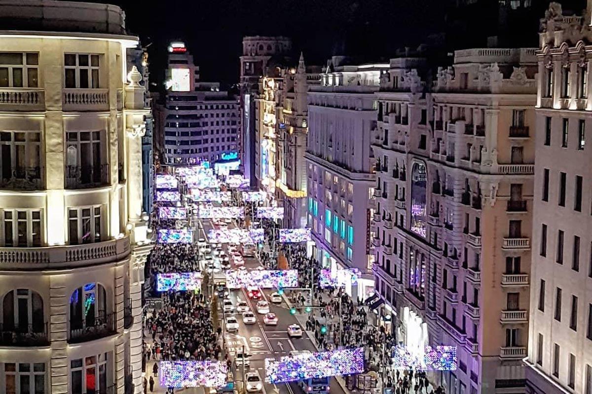 Madrid iluminado por Navidad.