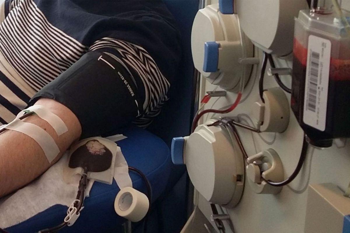 Donante de plasma hiperinmune. FOTO: Centro de Transfusión CAM.