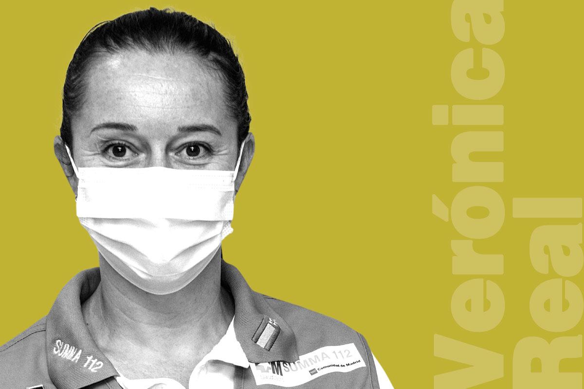 Verónica Real es supervisora de Enfermería en el Servicio de Urgencias Extrahospitalarias de la Comunidad de Madrid Summa 112 y ha sido directora de Enfermería en el Hospital Covid-19 Ifema.