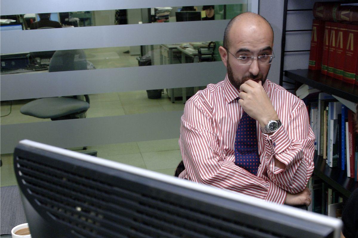 Manuel Hidalgo, durante una visita a la redacción de Diario Médico, en Madrid.