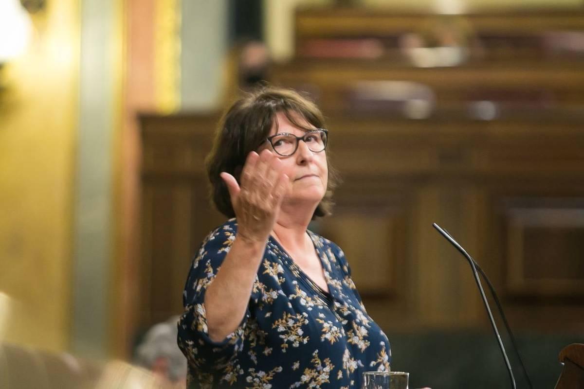 Rosa Medel, portavoz de Sanidad de Podemos en el Congreso de los Diputados.