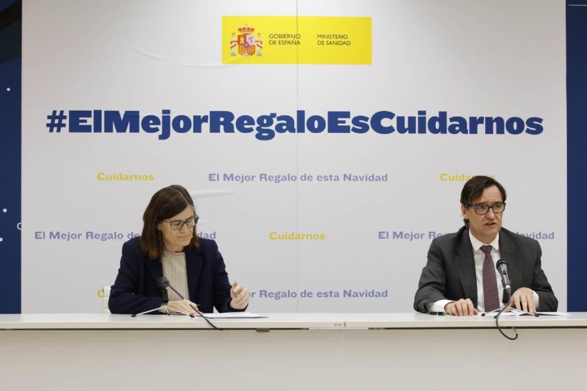 Pilar Aparicio, directora general de Salud Pública, y Salvador Illa, ministro de Sanidad.