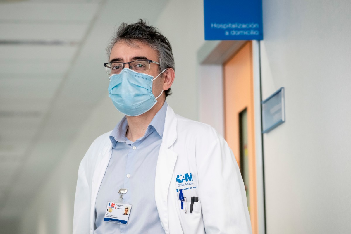 Manuel Mirón, presidente de la Sociedad Española de Hospitalización a Domicilio (Sehad). (Fotos. José Luis Pindado)
