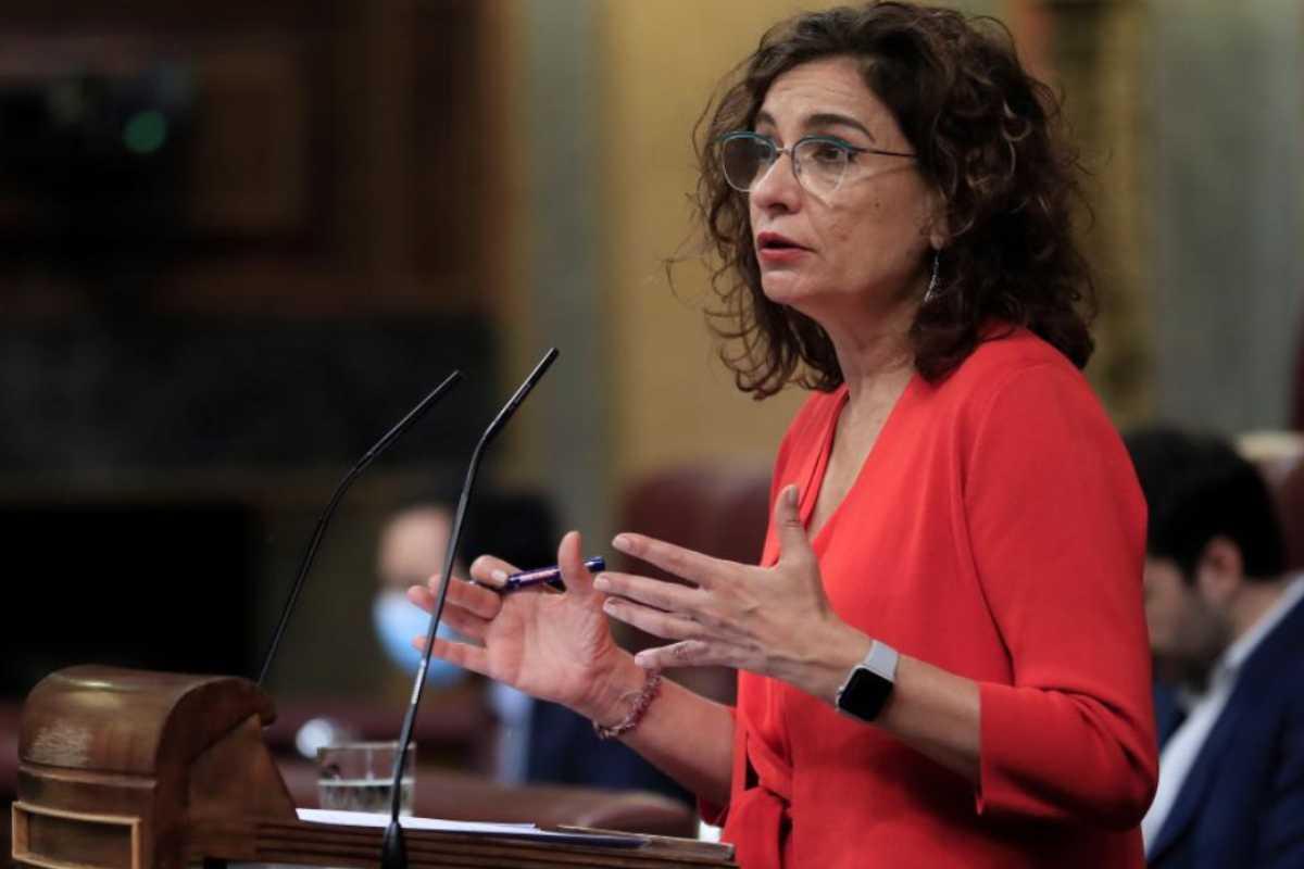 La ministra de Hacienda, María Jesús Montero, defendió el Fondo Covid-19 en el Congreso el 16 de julio.