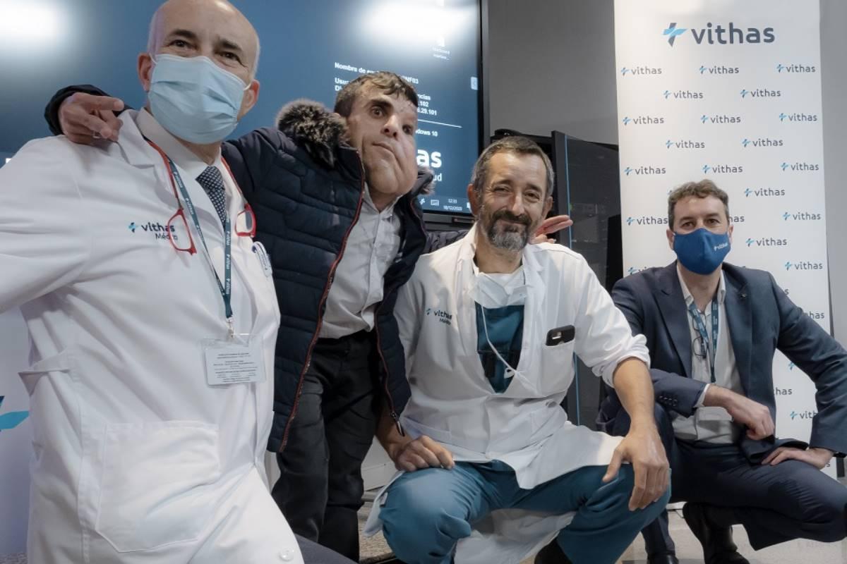 Dr. José Luis Rey, Ali Amnad Rifi, Dr. Pedro Cavadas, Dr. Ángel Ayuso.
