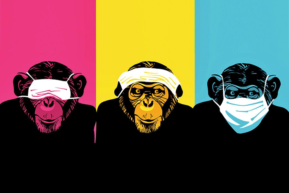 Monos con mascarilla