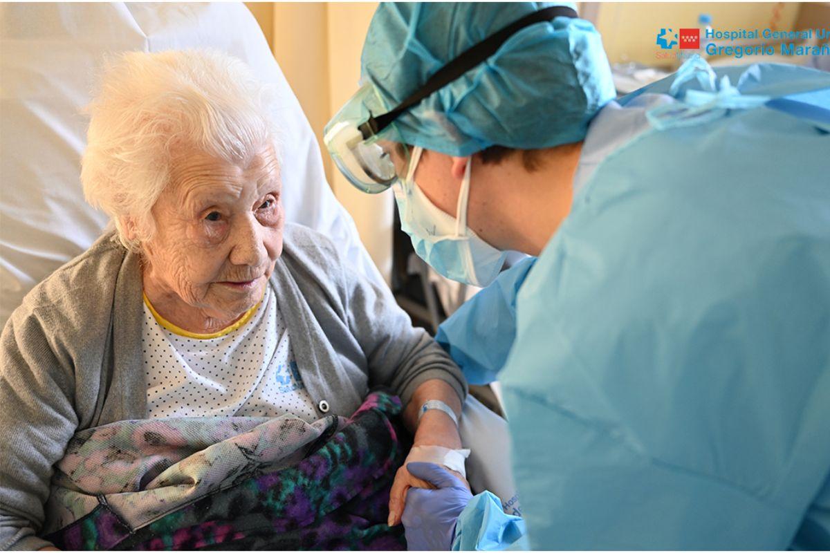 Elena, otra anciana de 104 años que ha superado la covid-19