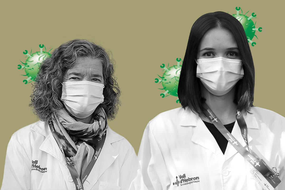 Maria Josep Carreras Soler y Carla Alonso Mart�nez, del Servicio de Farmacia del Hospital Vall d'Hebrón (Barcelona).