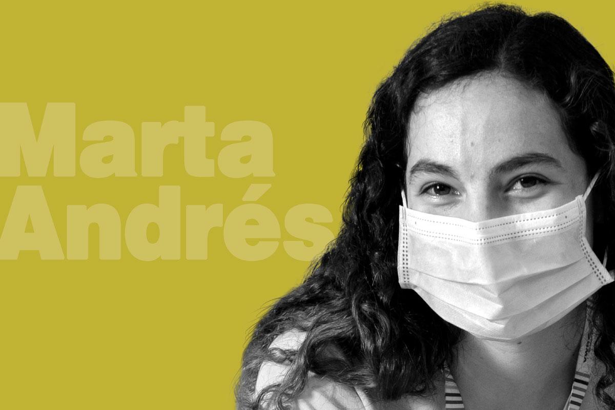 Marta Andrés,  R1 de Familia en el Hospital de Fuenlabrada (Madrid).