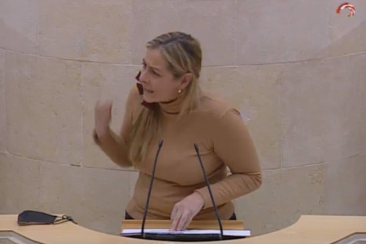 Marta Garc�a, portavoz de Sanidad de Ciudadanos de Cantabria.